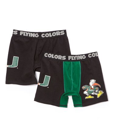 This Miami Hurricanes Boxer Briefs Set - Men by Flying Colors is perfect! #zulilyfinds
