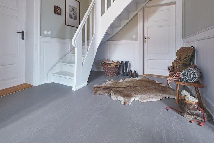Laminaatvloer met wood-powder technologie in cremegrijs. Nadura vloer van Meister