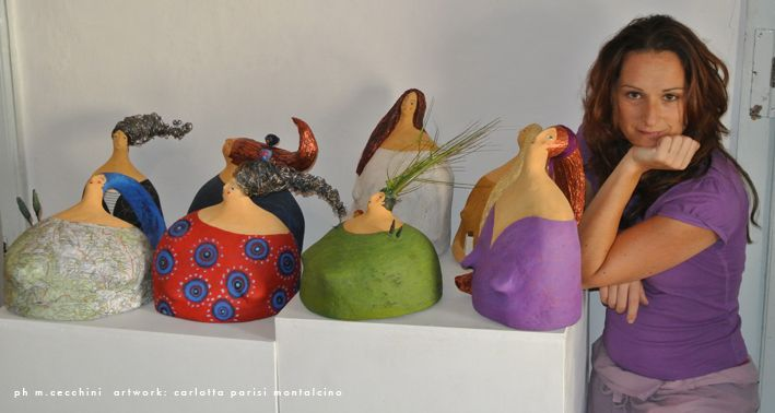 sculture in cartapesta di Carlotta Parisi