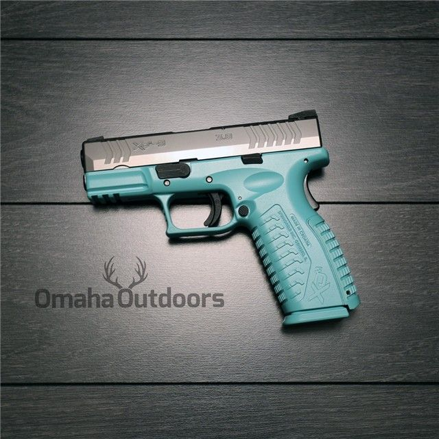 Springfield Armory XDM 9mm 19 RDS Tiffany Blue Gun for the lady of the house.