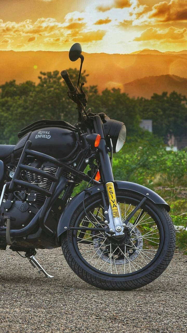 Royal Bullet Bike Photography Black Sunset With Images