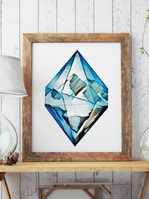 FREE SHIPPING ALL OVER THE WORLD!  Hand painted art. Blue diamond mountains. Perfect for your living walls Great gift idea for your friends.  Big resolution of the picture, can be printed on larger formats.  Check out framed canvas as well: https://www.etsy.com/listing/498630688/wall-art-framed-canvas-blue-diamond?ref=shop_home_active_10  ZuskaArt : artwork | watercolor painting | art prints | canvas art | framed art | canvas painting | watercolour | art prints |...