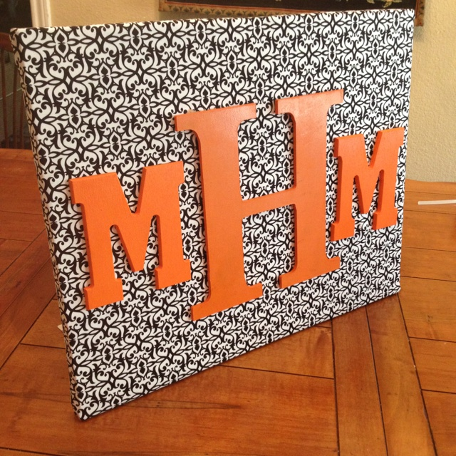 DIY monogrammed canvas