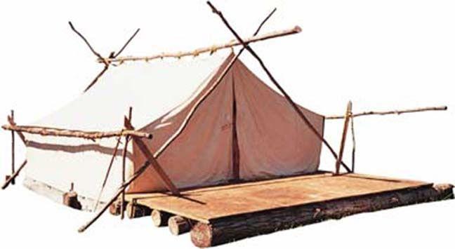 Wall tent deck idea. Simple.