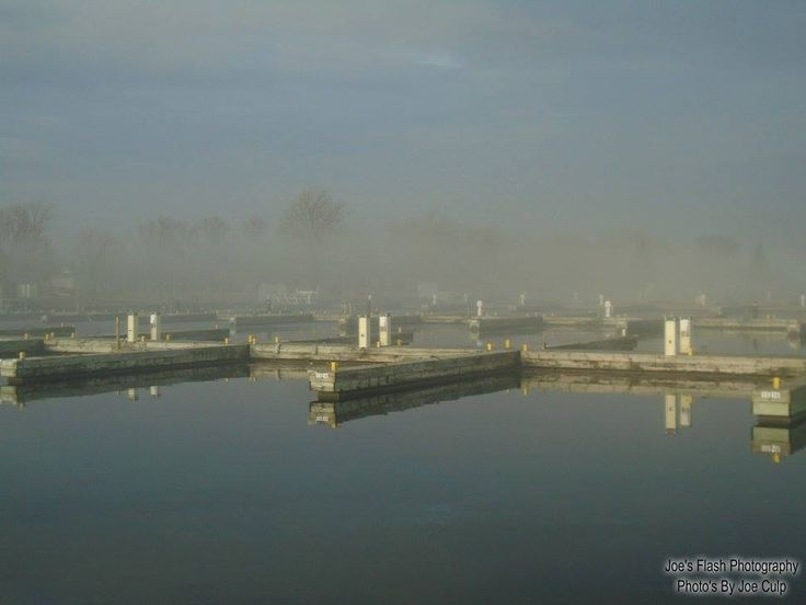 Fog over Meyers Pier Belleville Ontario March 27, 2017 Belleville Ontario