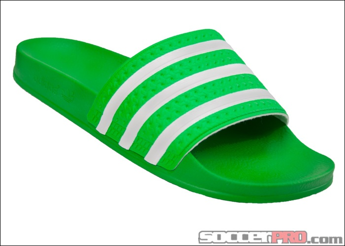 9915999e9 adidas adilette Sandal - Intense Green with White... 29.99