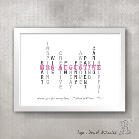 Personalized Teacher's Inspirational Print / by AgasBoxOfMiracles
