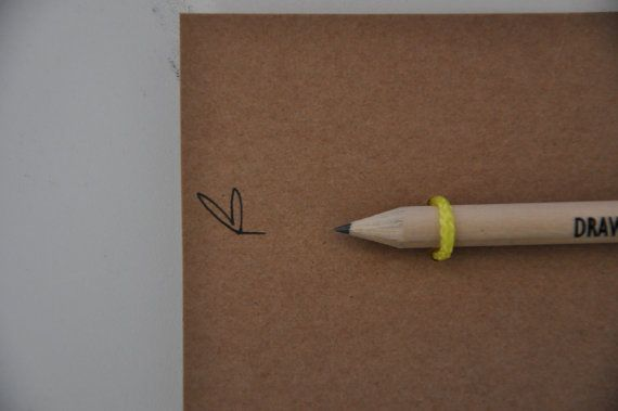 Draw me close to you. A little pencil. Natural di IntoTheTreees