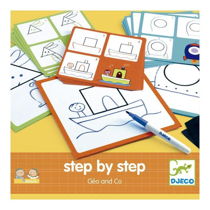 ¡Aprende a dibujar animales paso a paso de forma sencilla! Coge una tarjeta, sigue todos los pasos y aprende como dibujar cada animal.