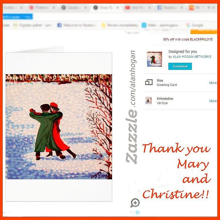 ..big thank you to Mary in Albuquerque, New Mexico USA and Christine in Droitwich UK who recently purchased a bunch of these 'Snow Tango' greeting cards from my Zazzle online store. @zazzle  #zazzle #xmascards #tango #snowtango #paintings #art #artcards #hoganfinland #konstnär #artist #greatness #christmascard #dancing #dancers #instalike #instacard #instathanks #thankyou #instadance #zazzlemade #snowscene #taide #konst #festive #stationary #cards #greetingcards