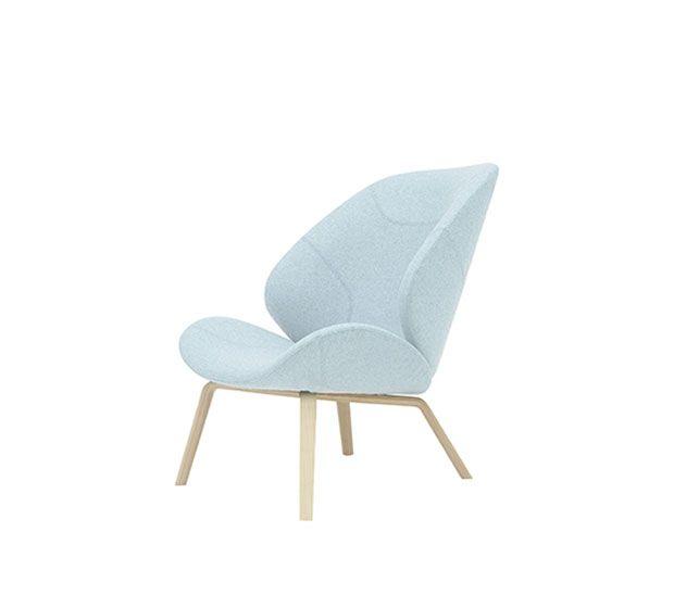 Eden - Fauteuil rembourré, structure de bois. Adapté à l'usage commercial. Fauteuil, sofa, pouf et mobilier lounge pour la maison et les espaces publiques.