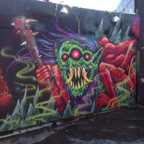 The Art of Skinner | Artwork | Valley Lurker Mural