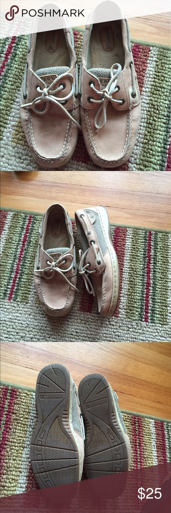 Ladies Sperry Top Sider shoes size 6.5 Ladies Sperry Top Sider shoes size 6.5.  Pre loved and LOTS of life left in them.  Sperry shoes don't get older they just get better! Sperry Top-Sider Shoes Flats & Loafers