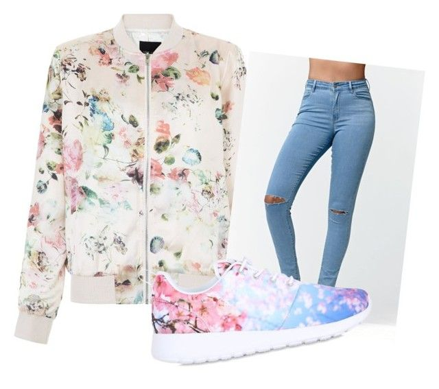 """""""Untitled #38"""" by kristyna-r on Polyvore featuring New Look, Bullhead Denim Co. and NIKE"""
