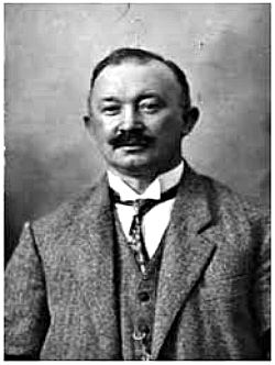 Hugo Ferdinand Boss (1885 – 1948) was a German fashion designer and businessman. He founded his own clothing company, Hugo Boss in 1923. Boss joined the Nazi Party in 1931, two years before Hitler came to power. The Hugo Boss company produced the all-black SS uniforms along with the brown SA shirts and the black-and-brown uniforms of the Hitler Youth. After World War II, Boss was fined for his support of Nazism and was not allowed to vote. He died of a tooth abscess in 1948.