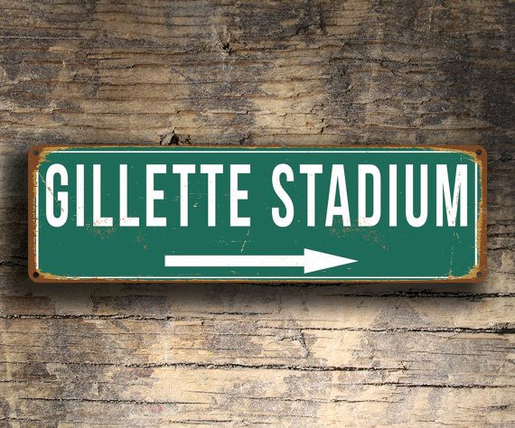 GILLETTE STADIUM Signs Vintage style Gillette by FanZoneSigns