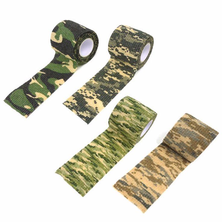 1 Gulungan Pita Kamuflase Keren Camping Camo Waterproof Wrap Kamuflase Stealth Tape Luar Hiking Kit Travel