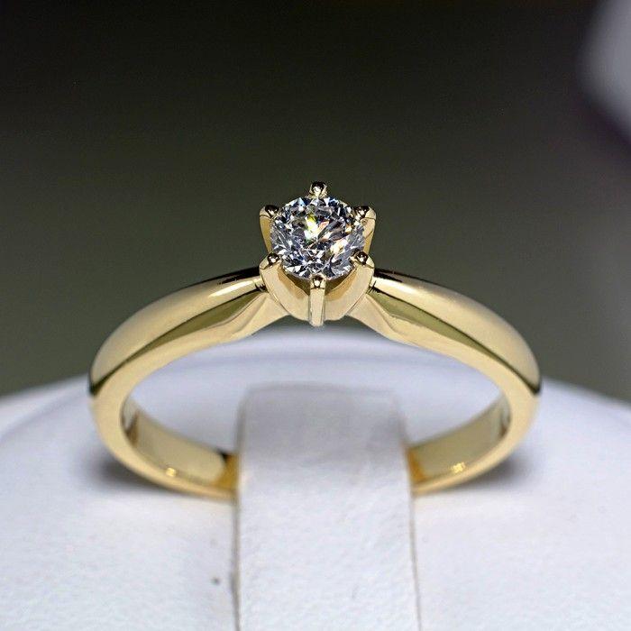 Inel din aur galben cu diamant model i017p6