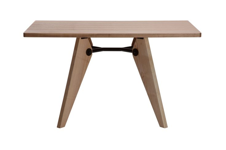 Replica+Jean+Prouve+Gueridon+Dining+Table+--+French+genius+Jean+Prouve+designed+the+Gueridon+Dining+Table,+with+its+particularly+impressive+structural+clarity,+for+the+University+of+Paris.+This+wooden+table+proves+that+modern+tables+do+not+have+to+be+made+of+steel+and+glass+and+offers+a+variation+on+Prouve's+standard+formal+language,+with+its+architectural+overtones,+by+using+a+natural+material…