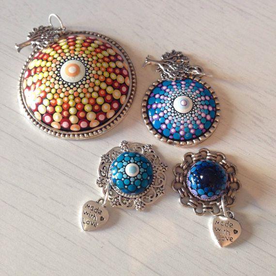 Pendants – Dotart Mandala Stone Pendant Necklace – a unique product by CreateAndCherish on DaWanda