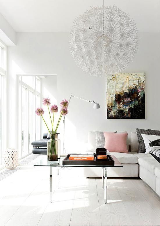The Designer Pad - WHITE ONWHITE  great art and ikea fixture