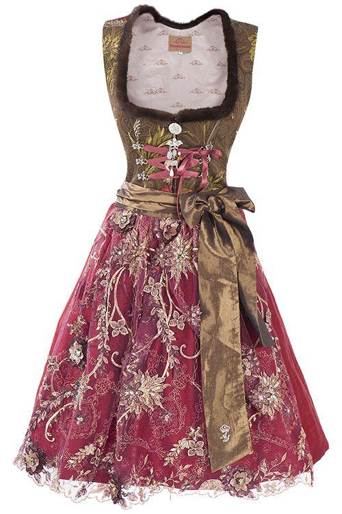 Dirndl Couture braun