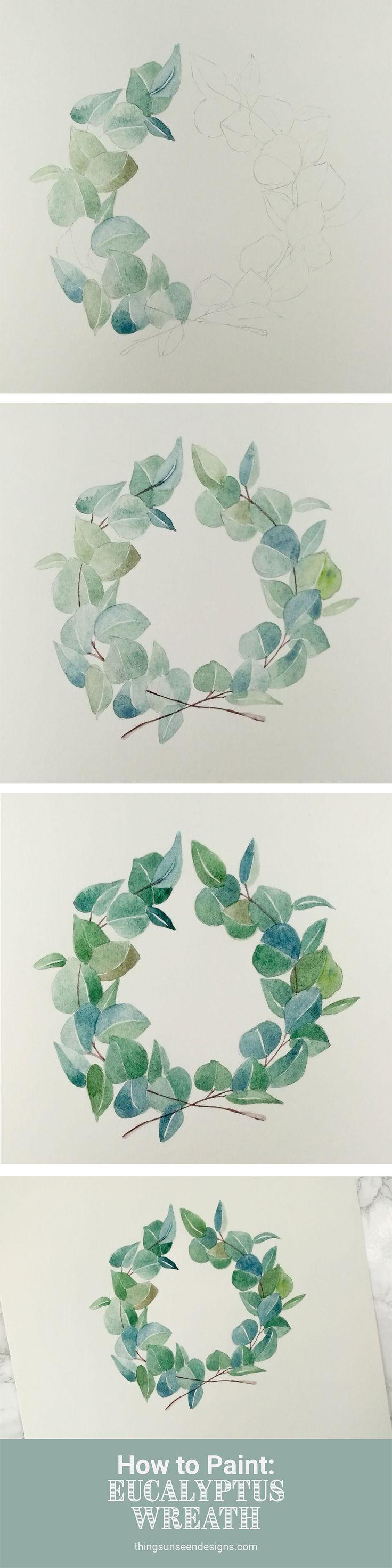 How to Paint: Eucalyptus Wreath