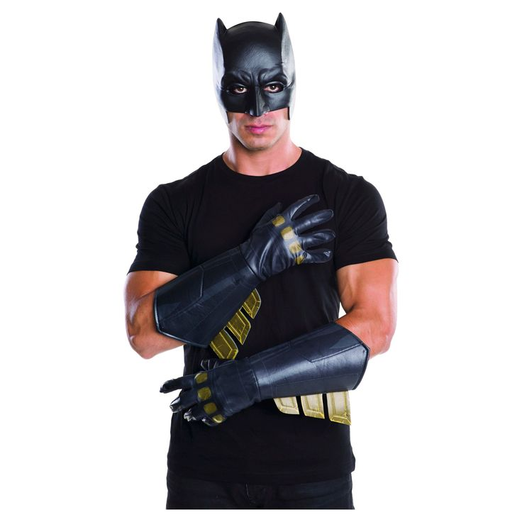 Halloween Batman Dawn of Justice Gauntlets Adult's Costume Accessory, Men's, Multi-Colored