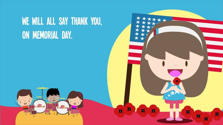Watch our 'Memorial Day Poppy Song' music video with song lyrics and sing along with the kids!  #memorialday #prek