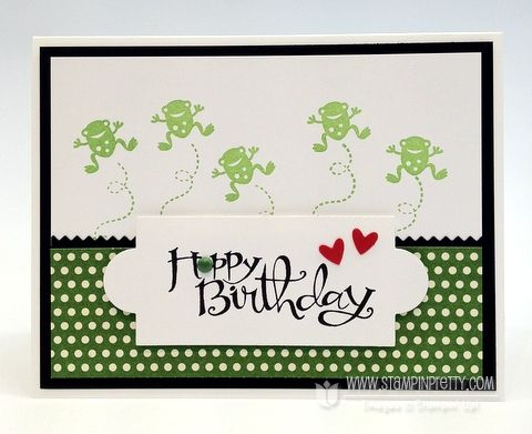 hoppy birthday: Cards Ideas, Stampin Up Frogs, Birthdays, Stamps Sets, Happy Birthday Cards, Hoppi Birthday, Moving Forward, Kids Birthday Cards Stampin Up, Stampin Up Cards