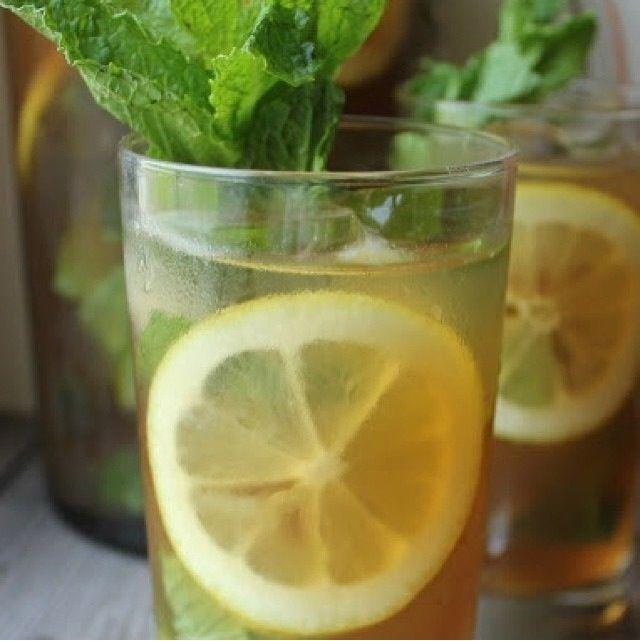 Detox Herbal Cleansing Tea Lemon Mint Mint Iced Tea Iced Tea