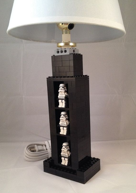 Custom LEGO Lamp with built in display area by BrickABlocks