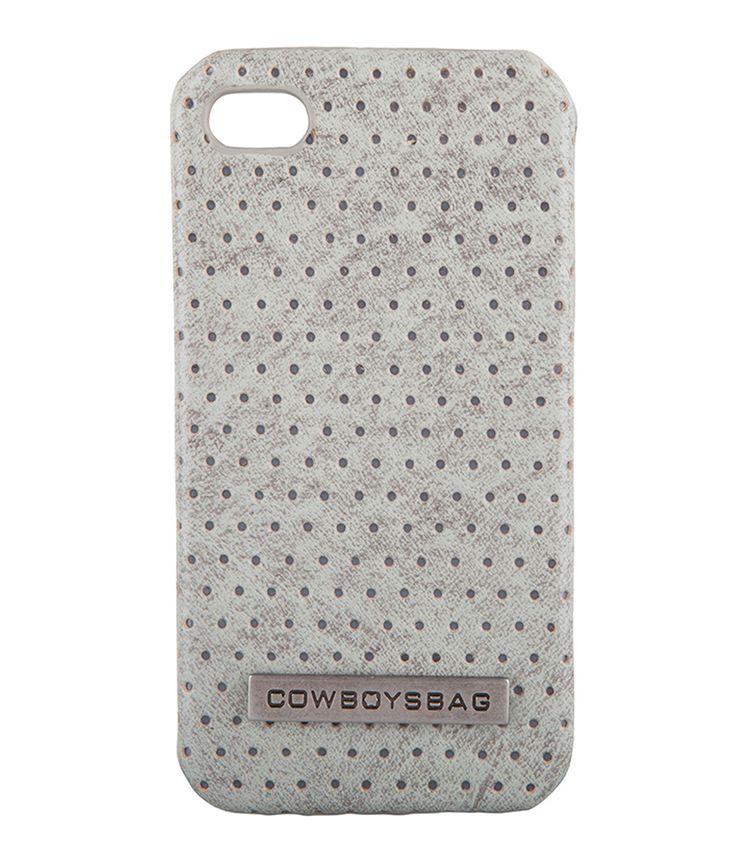 De iPhone 4 Cover van Cowboysbag is een stoere en trendy accessoire voor je smartphone! De Cowboysbag is gemaakt van een harde lederen case met geperforeerde details.(€24,95)