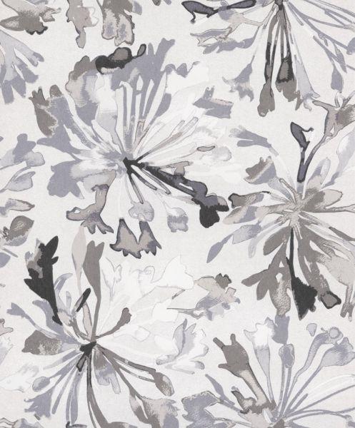 Vackert asieninspirerat blommönster från kollektionen Akina AKI201. Klicka för att se fler inspirerande tapeter för ditt hem!