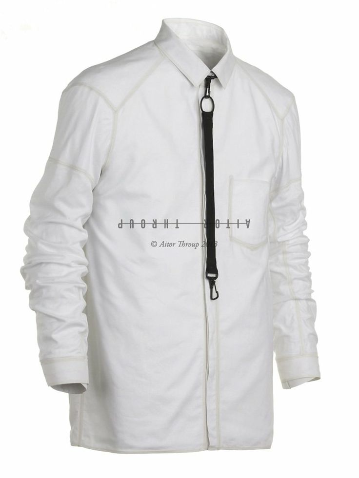 AITOR THROUP - Saxophone Dress Shirt - SAXOPHONE SHIRT WHITE - H. Lorenzo