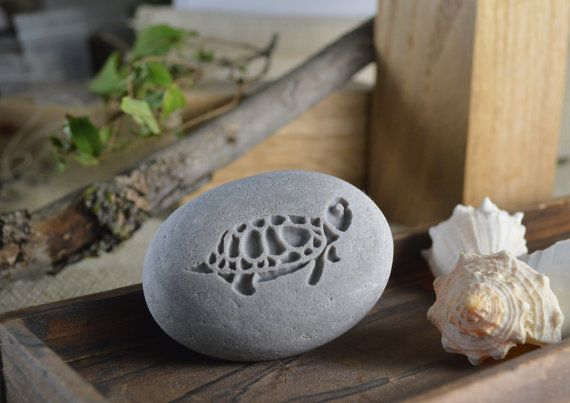 The image of turtle represents longevity. Take that magical power of anti-aging to your home. Engraved Gift pebble art by SJ Engraving.