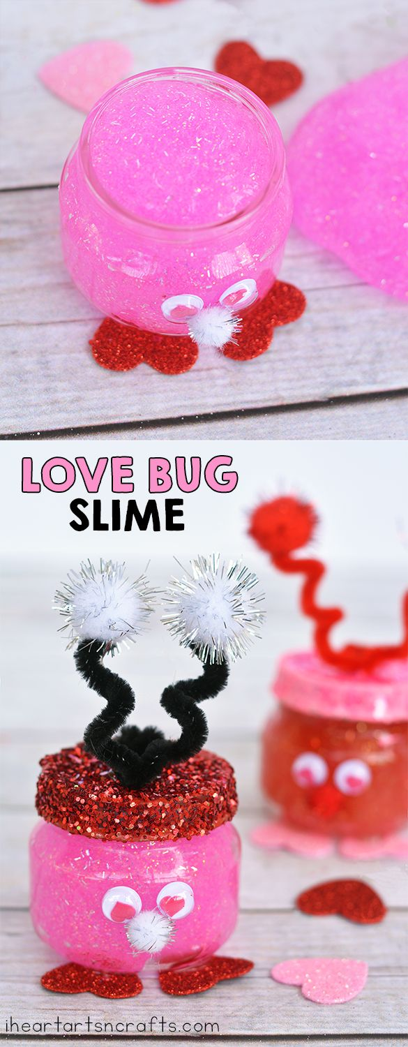 Looking for an awesome non-candy idea for Valentine's Day? These Love Bug Slime jars are perfect and the kids can help make them! We used baby food jars for the containers but if you don't want to use glass you can always use some plastic containers with lids and they'll work just as well. As …