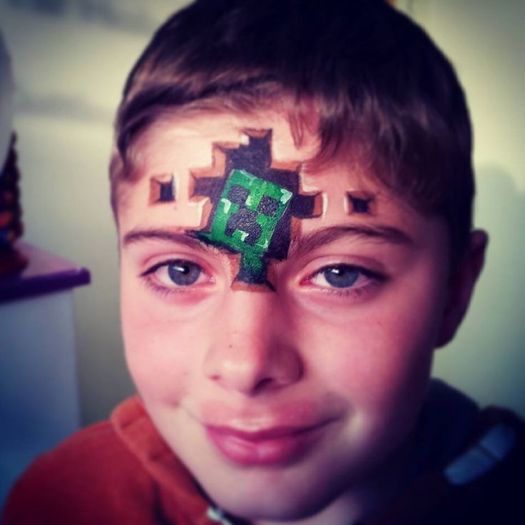 Minecraft face painting idea.... Check it out Abbie Reed