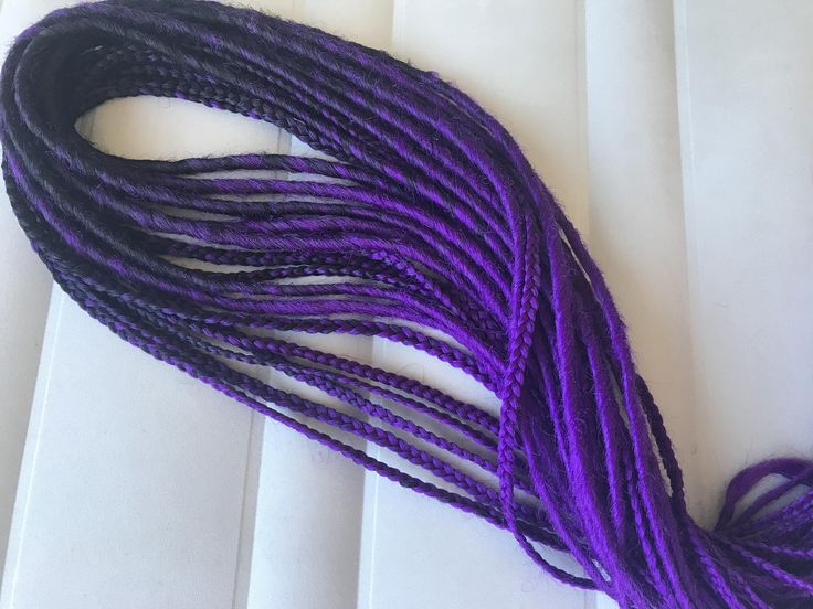 Excited to share the latest addition to my #etsy shop: Ombre Smooth Purple and Black Synthetic Double Ended Dreads. Dreadlock Extensions. Black Purple DE dreadlocks. Black Purple Braided Dreads http://etsy.me/2ny3CLl #accessories #hair #purple #black #dreadlockbeads