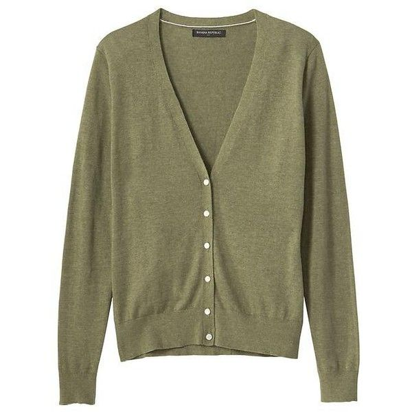 Banana Republic Women Factory Forever V Neck Cardigan ($25) ❤ liked on Polyvore featuring tops, cardigans, brown cardigan, banana republic, brown tops, banana republic tops and v-neck cardigan