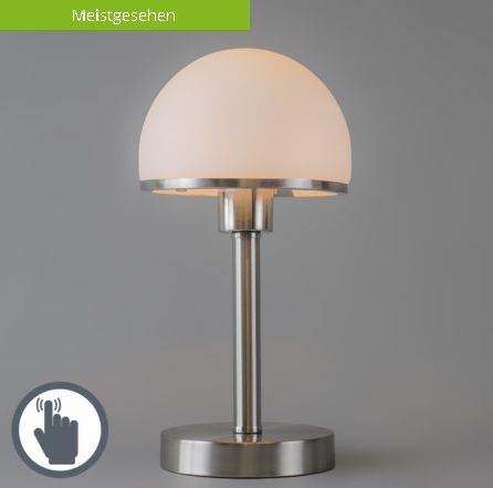 Tischleuchte Bauhaus stahl mit Touch: #tischleuchte #touchfunktion #praktisch #bequem #innenbeleuchtung #lampen #leuchten