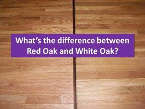 red oak compared to white oak flooring