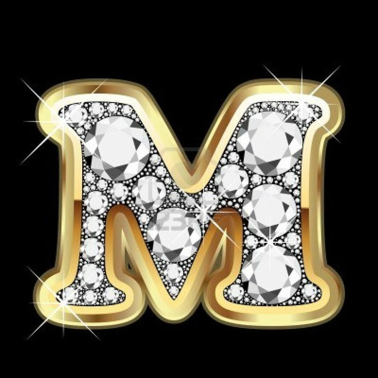 m gold and diamond bling stock photo