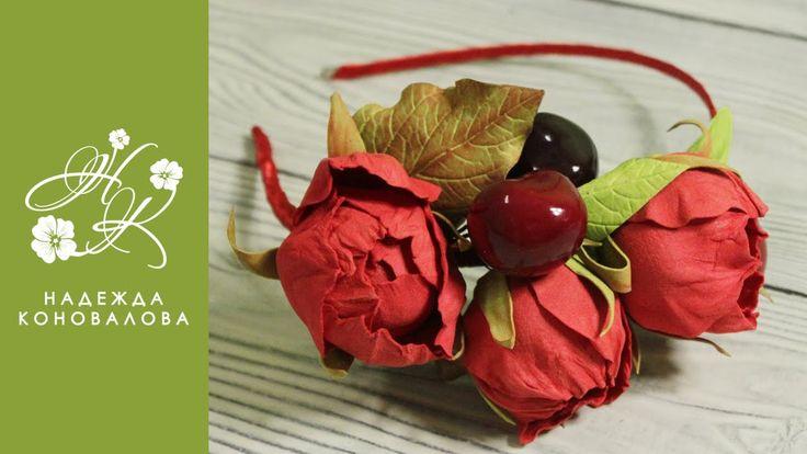 Как собрать ободок и венок с цветами из фоамирана