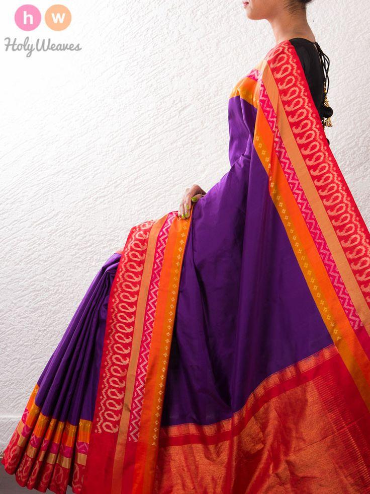 #Handwoven #Silk #Pochampally #Saree #HolyWeaves
