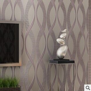 Simple 3D Striped Retro Wave Pattern Woven Wallpaper Bedroom Wall Living  Room TV Backdrop Part 35
