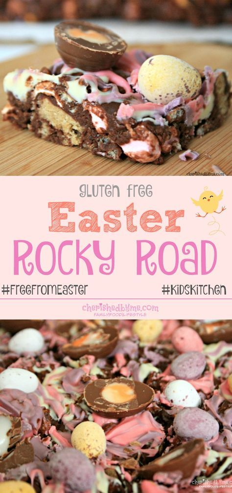 #FreeFromEaster The best Easter Rocky Road recipe ever! Gluten free and tastes fantastic | cherishedbyme.com