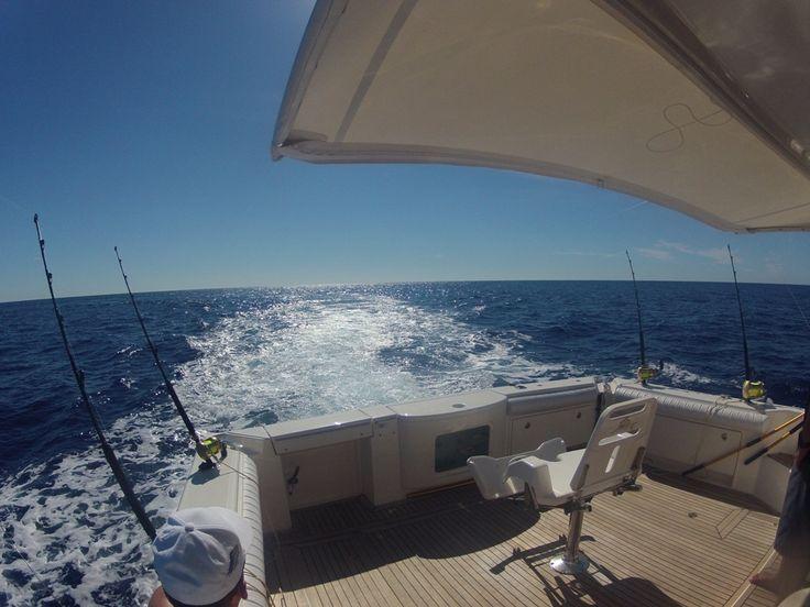 On-board uShaka during a fishing trip...