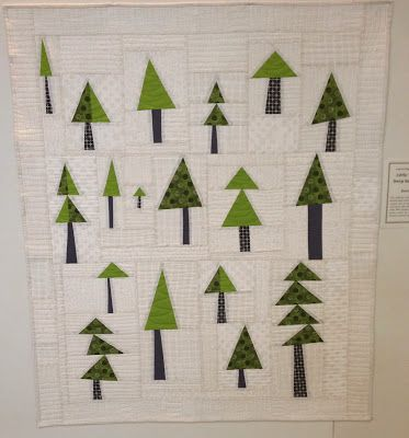 Third Friday at Quiltworks. This has my name all over it, between the greens, and trees.