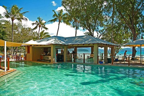 Long Island Resort, Whitsunday Islands in Queensland, Australia. An Island in the middle of the Pacific near the Great Barrier Reef. Stayed here several years ago when I went to Oz. I WILL go back one day :)